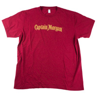 Captain-morgan-one-color-screen-print-tee-shirt-mens-red-front