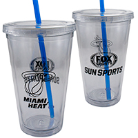 Clear-double-wall-tumbler-blue-straw