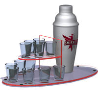 Custom-shot-glass-tray-with-shaker