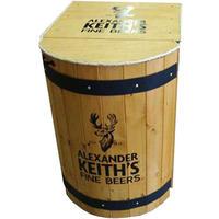 Custom-wood-barrel-mini-refrigerator