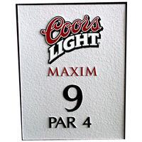 Metal-golf-sign